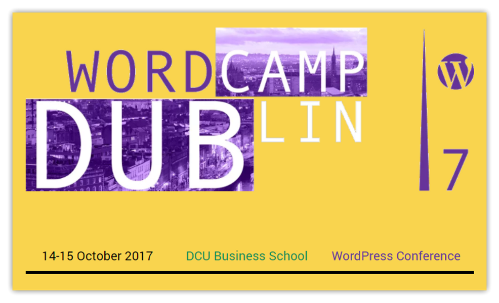 WordCamp Dublin 2017 hero image