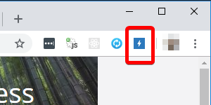 SEOInfo icon when page is AMP screenshot