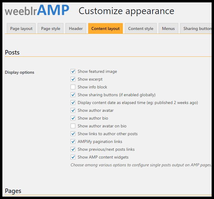 weeblrAMP header logo position