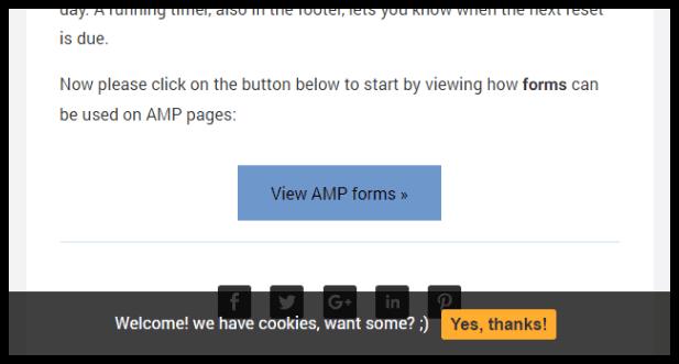 weeblrAMP Link to main site display options