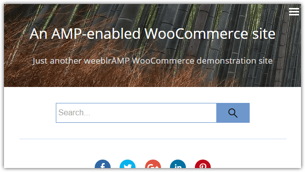 weeblrAMP search box displayed permanently