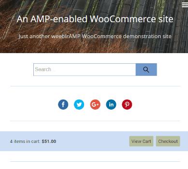 weeblrAMP WooCommerce minicart