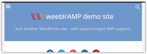 weeblrAMP AMP page header with image