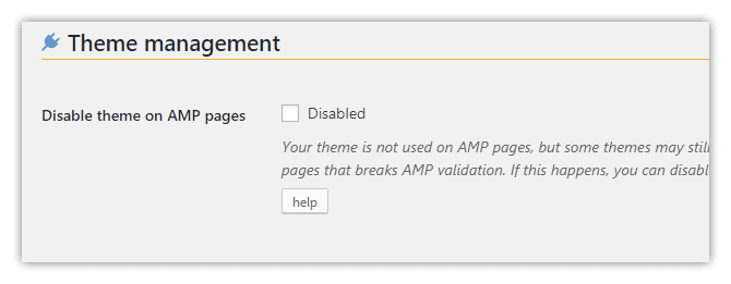 weeblrAMP disable theme on AMP pages