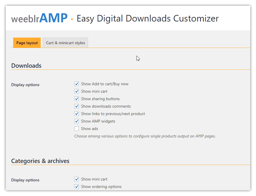 weeblrAMP Easy Digital Downloads product reviews