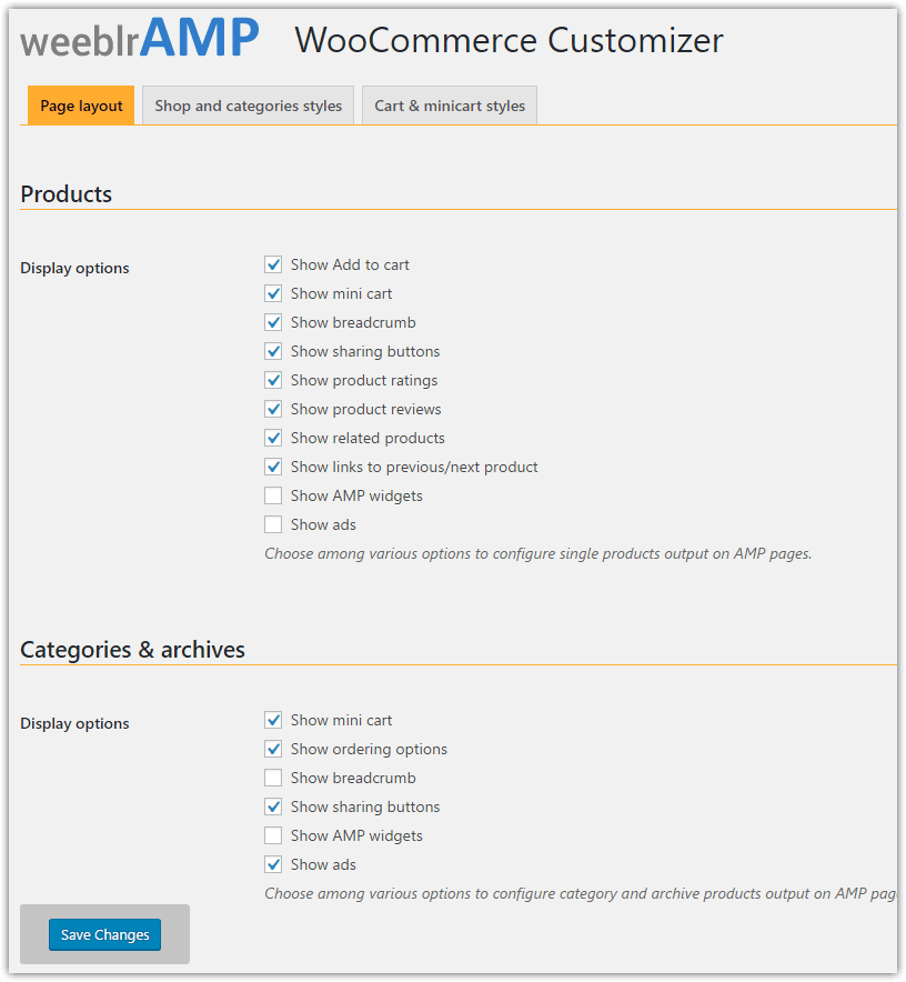 weeblrAMP WooCommerce product reviews