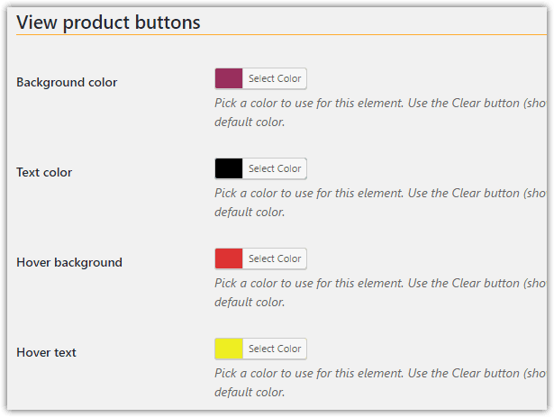 weeblrAMP WooCommerce view product buttons customization