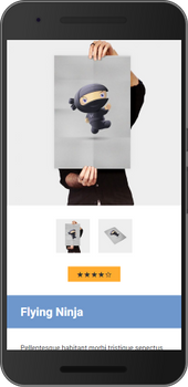 Screenshot of weeblrAMP WooCommerce product page image gallery