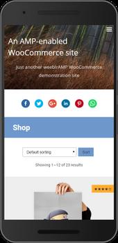 Screenshot of weeblrAMP WooCommerce product listing sorting